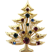 Vintage BROOKS Harp Christmas Tree Pin
