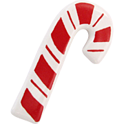 Vintage Flying Colors Ceramic Candy Cane Pin