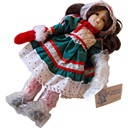 Hollie Hobbie 1985 Christmas Wishes Doll by Gorham - In Original Box