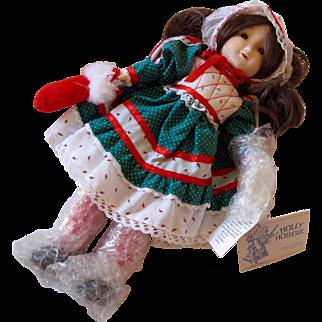 Hollie Hobbie 1985 Christmas Wishes Doll by Gorham - In Original Box