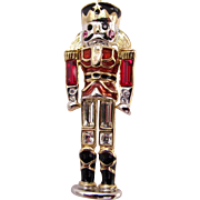 Monet Christmas Nutcracker Toy Soldier Pin