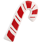Vintage Flying Colors Red and White Striped Candy Cane Pin