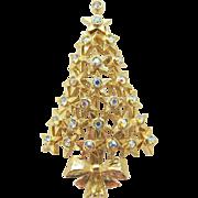 Vintage Hobe Christmas Star Tree Holiday Brooch