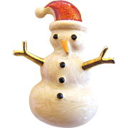 Rare Eisenberg Ice Snowman Brooch