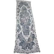 "Brussels Princess Lace Scarf, Shawl, Runner or Panel 54 1/4"" by 15 1/4"""