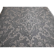 """Large Antique Princess Brussels Dotted Net Lace Panel, Wedding Veil, Train, Bedspread or Tablecloth 80"""" by 86"""""""