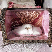 Small French Ormolu French Vitrine for Dolls or Bridal Bouquet