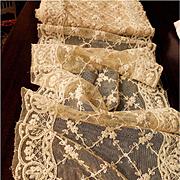 Wide Heavy Machine Embroidery French Net Lace Yardage 7 1/2 plus Yards