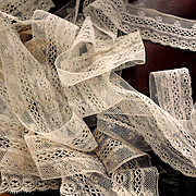 Delicate French Net Lace Yardage For Projects or Doll Dress