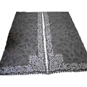 """2 Pairs White French Tambour Net Lace Panels 36"""" x 84"""" AS IS"""