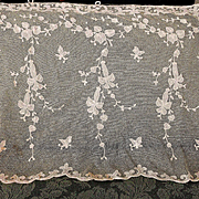 12 Yards Creamy White French Tambour Net Lace Applique Fabric