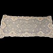 Intricate Brussels Princess Lace Runner Dresser Scarf  36 1/2 x 14