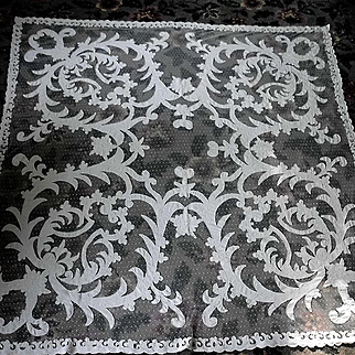 """Large White French Tambour Net Lace Tablecloth Table Topper Panel 68"""""""