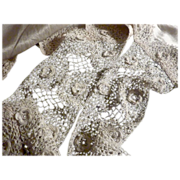 Handmade Edwardian SILK Camisole with Irish Crochet LACE Trim