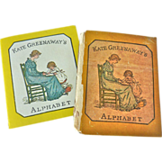 Antique 1895 Kate Greenaway's 1st Edition 1895 ALPHABET Book + Replica Book