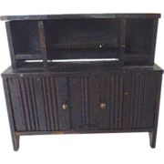 Antique GERMAN Miniature DOLLHOUSE Schneegas Wooden Sideboard