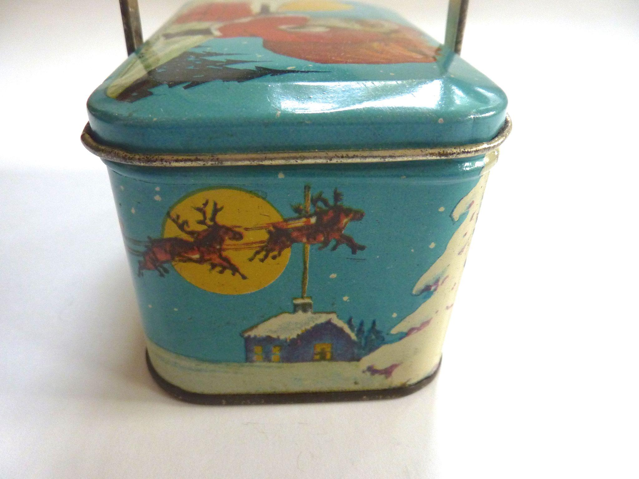 1920 39 s tindeco 39 twas the night before christmas 39 candy tin for Christmas tin pails