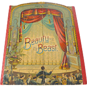 Rare 1891 McLoughlin Theater Pantomime BEAUTY & THE BEAST Children's Toy Book