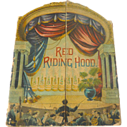 Rare 1891 McLoughlin Theater Pantomime LITTLE RED RIDING HOOD Children's Toy Book