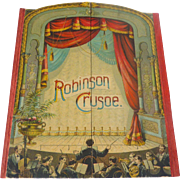 Rare 1891 McLoughlin Theater Pantomime ROBINSON CRUSOE Children's Toy Book