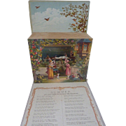 Rare 1884 McLoughlin 'Little Showman's Series SPRING Pop-Up MOVABLE Book ~1st Edition