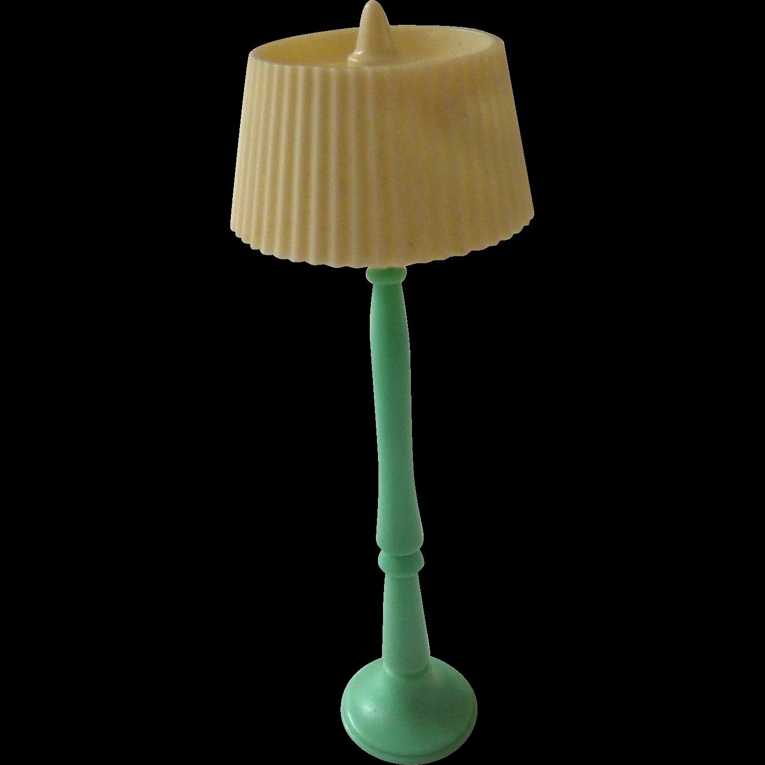 Rare RENWAL Jadeite GREEN Dollhouse Miniature Floor LAMP