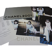 CHANEL 2001 Karl Lagerfeld Couture Fashion Press/Sales Campaign Kit