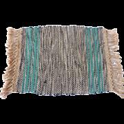 Tynietoy 1920's Dollhouse Miniature Hand Woven Rug