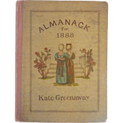 Miniature 1888 1st edition KATE GREENAWAY Miniature Almanack Book w Engravings