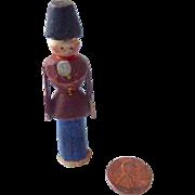 Miniature DOLLHOUSE 1850's Antique ERZGEBIRGE Putz Hand Carved Soldier