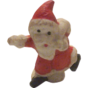 "Vintage PUTZ Bisque SANTA Claus 'No Snow' Snow Baby Miniature 1.5"" Doll house"