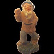 Antique 1900 GERMAN Erzgebirge PUTZ Santa's ELF Gnome for Doll house Santa's Workshop