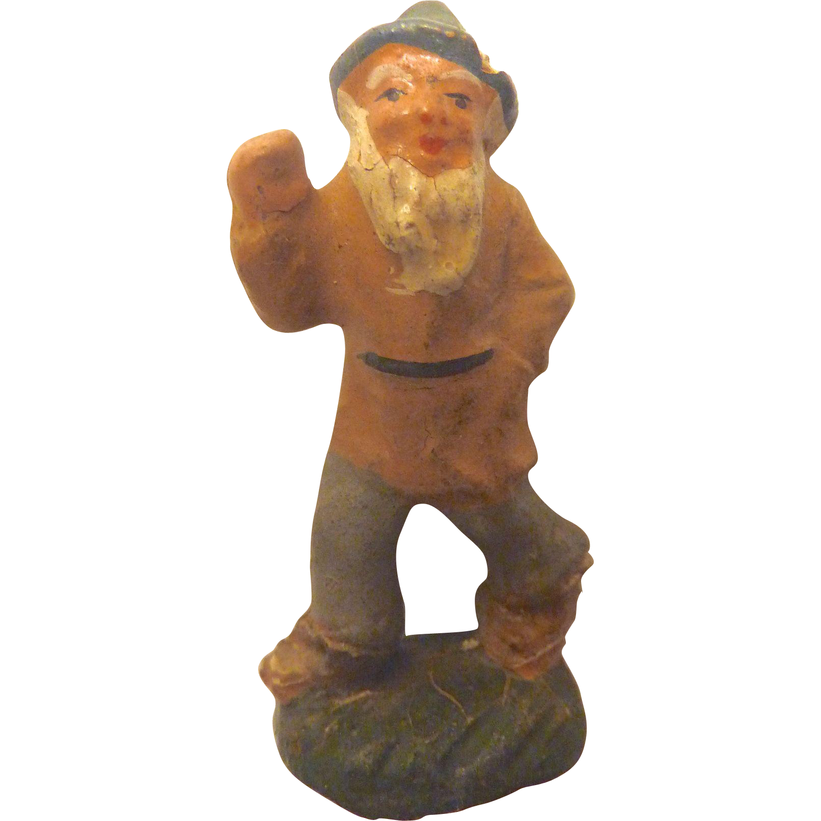 Antique 1900 GERMAN Erzgebirge PUTZ Santa's ELF Gnome for Doll house Santa's Workshop