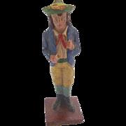 Antique 1800's GERMAN Erzgebirge PUTZ Shepherd Boy for Doll house NATIVITY