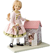 Rare Maggie IACONO 'THE Toy Cottage' Felt DOLLS Sold Out Limited Edition of 40
