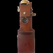 Rare GERMAN Erhard & Sohne WOOD Crank Doll House Miniature TELEPHONE