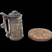 Antique GERMAN Dollhouse Miniature Ornate Silver Stein ~Adele Venus Collection~