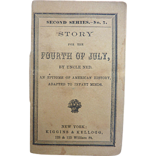Rare Antique 1850 Miniature 'Story for the FOURTH OF JULY' Doll Book