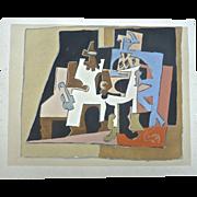 Rare 1933 Pablo PICASSO Pochoir DIX Reproduction Print BUCHER , Paris