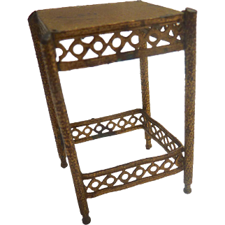 Antique GERMAN Erhard & Söhne Ormolu Side Table ~as is~