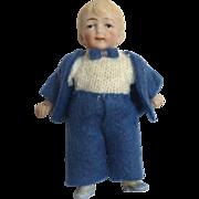 Antique GERMAN Bisque DOLL HOUSE Miniature BOY Doll