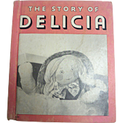 Sweet 1935 DELICIA Rag Doll Book Rand McNally