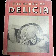 Sweet 1935 DELICIA Rag Doll Book Rand McNally