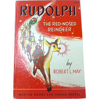 1939 1st Edition Rudolph the Red Nosed Reindeer Hard Cover Robert L. May