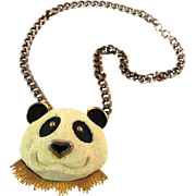 Vintage Razza Rare Panda Necklace