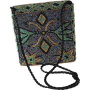 1960's Vintage Beaded Shoulder Bag