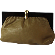Vintage Leather Clutch made in Italy