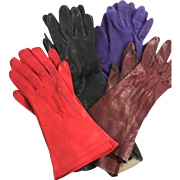 Vintage Leather and Suede Gloves