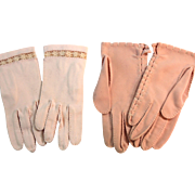 Two Pairs of Vintage Cotton Gloves