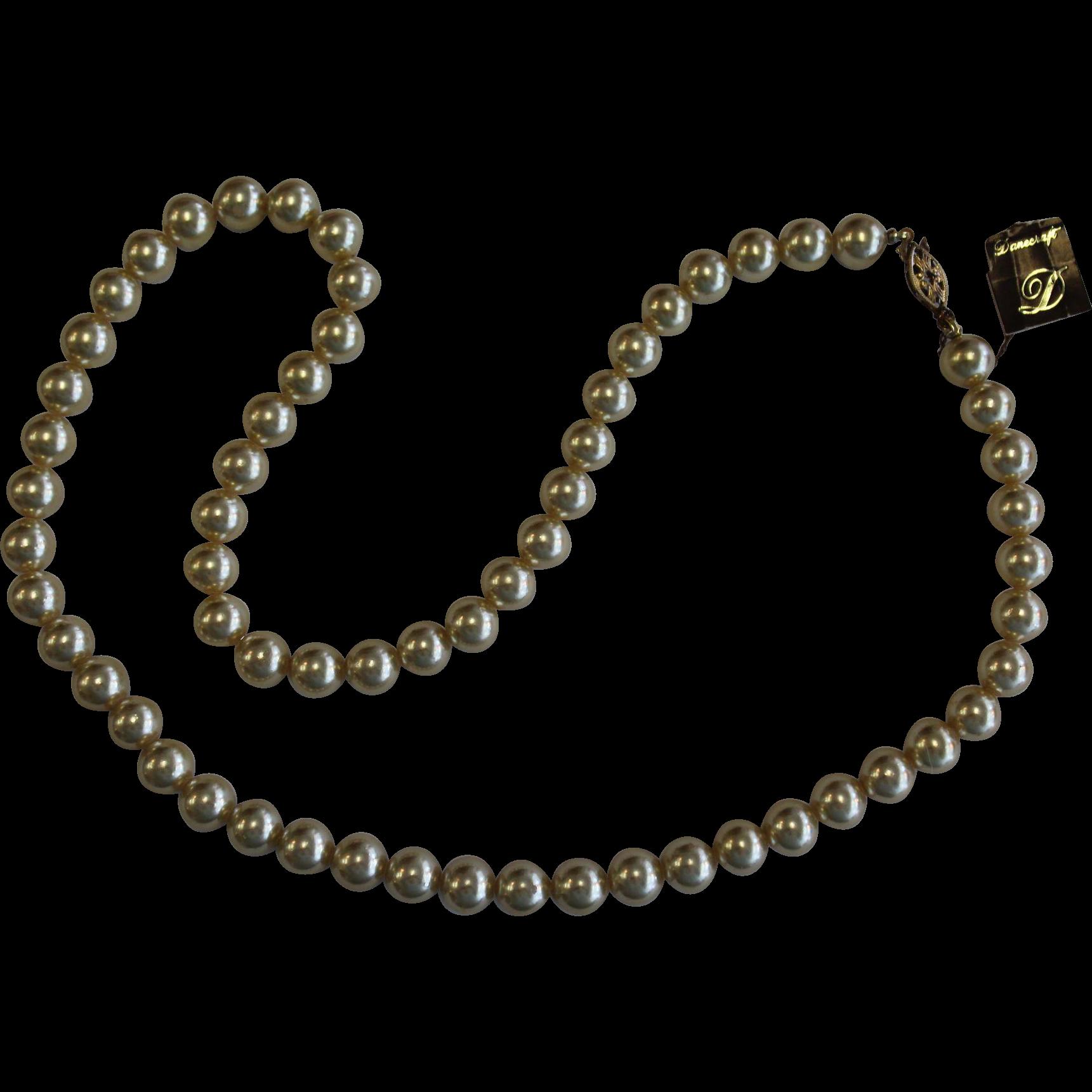 Vintage Danecraft Cream Colored Faux Pearl Necklace
